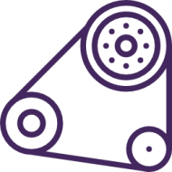 engine pulley system logo